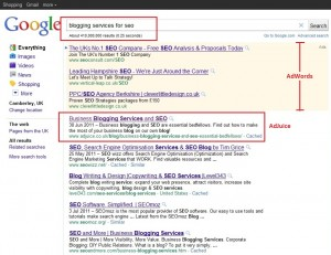 blogging services for seo google search results