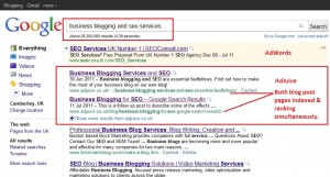 business blogging and seo services google search results