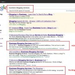 business blogging services google search results