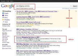 seo blogging services google search results