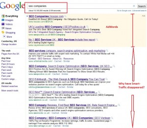 seo companies - google search results