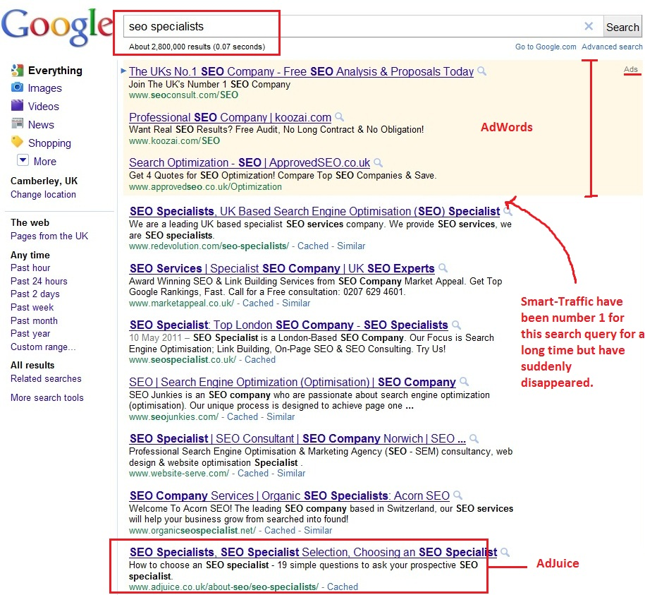 Search Results: A Mysterious Disappearing Act