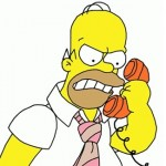 angry man on telephone answering cold call