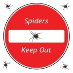 No entry to spiders sign