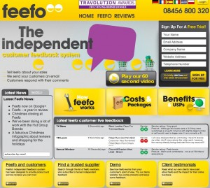 Feefo website screenshot