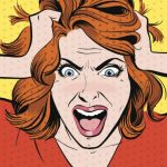 Cartoon image of woman pulling her hair out over keyword rankings