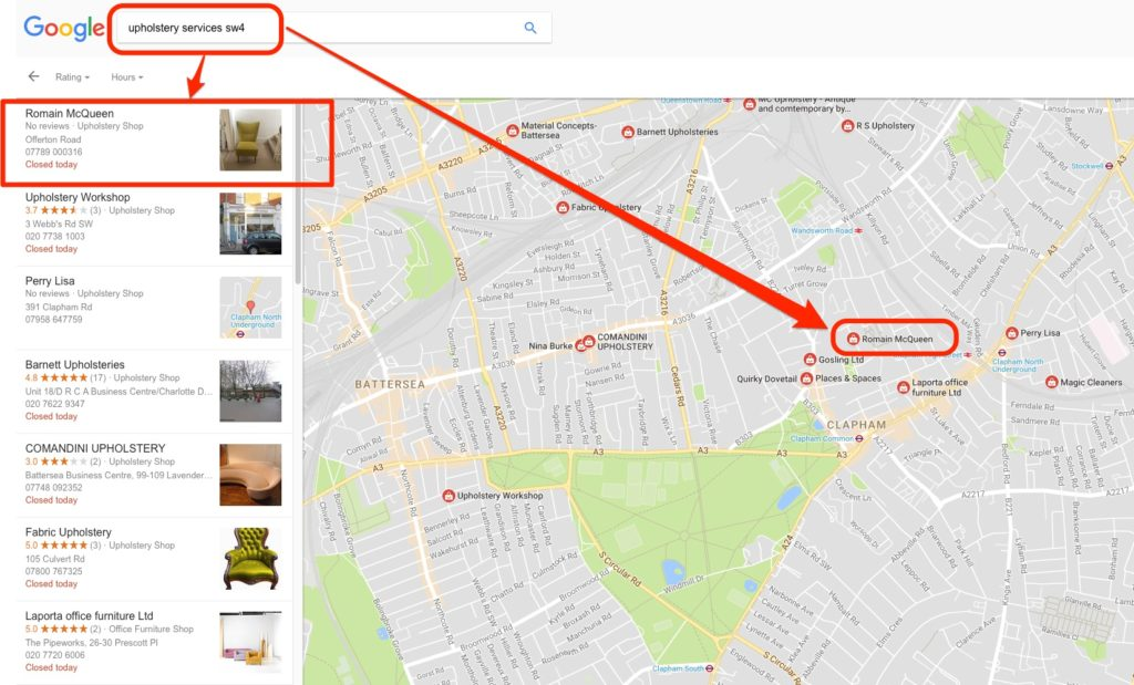 Romain McQueen on Google's Local Business Map
