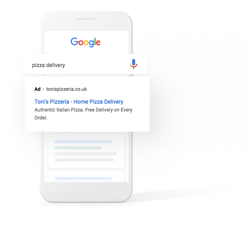 Google Ads illustration on mobile