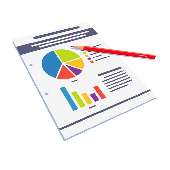 Statistical data paper abstract with graphs illustration