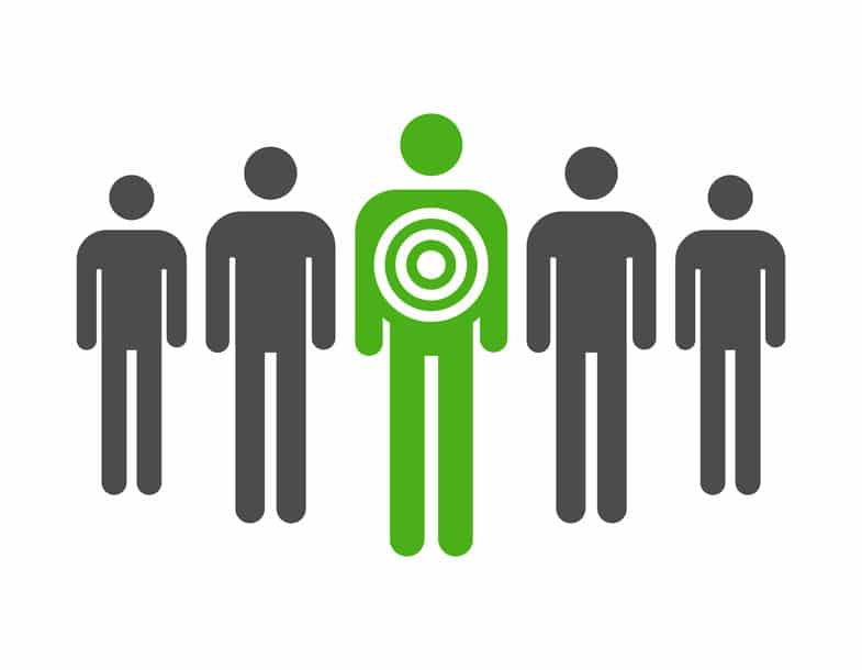 Personal retargeting icon of people